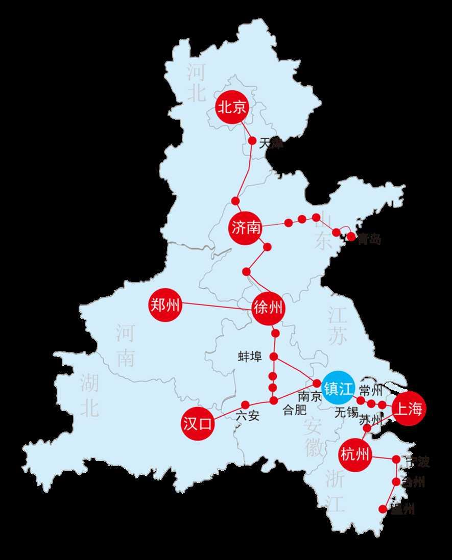 镇江南高铁站介绍   镇江,位于江苏省南部,是南京都市圈核心层城市,位于长江三角洲北翼,长江与京杭大运河唯一交汇枢纽,拥有十分优越的区位条件、是江苏南北之交通中枢。   日均到发:54列次;   年发送旅客 656.3万人次。   日均到发:47列次 (其中高铁36列;动车11列);   平日日均客流量:1.