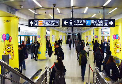 天津地铁广告2/3号线品牌站广告