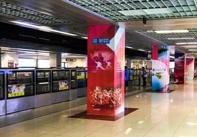 上海地铁包柱广告