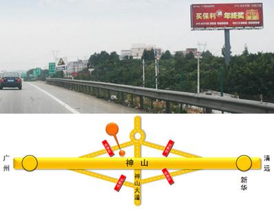 广清高速公路大牌广告