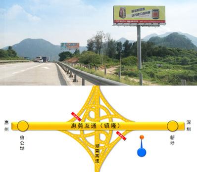 深惠高速公路大牌广告