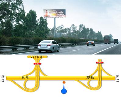 茂湛高速公路大牌广告