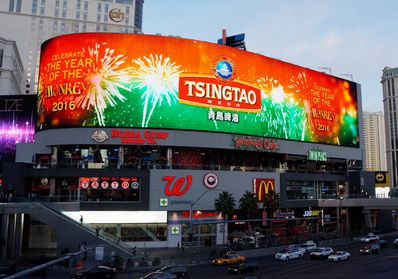 美国拉斯维加斯LED大屏广告