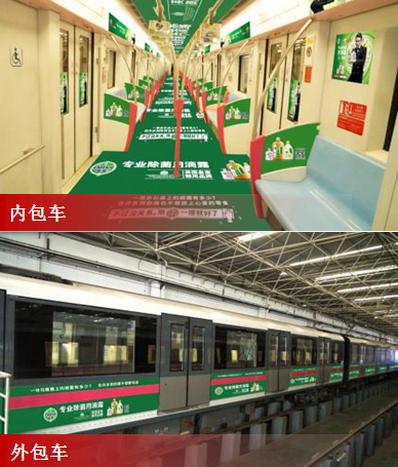 上海地铁6号线列车广告