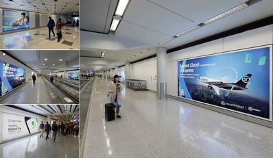 香港机场到达区灯箱广告