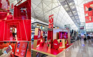香港机场出发区品牌展位广告