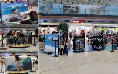香港机场出发区中场客运廊品牌体验区广告