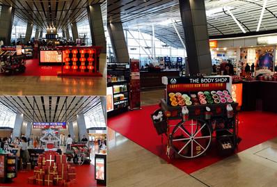 香港机场北卫星客运廊品牌体验区广告