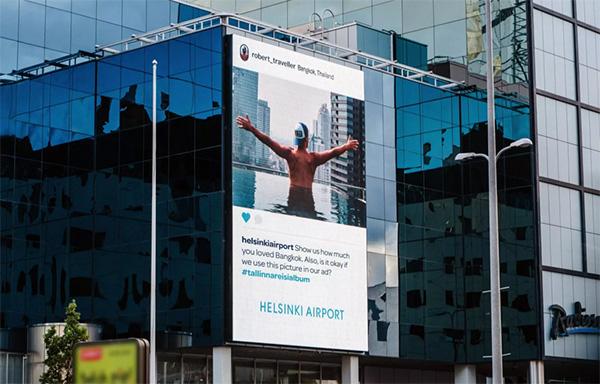 赫尔辛基机场户外广告