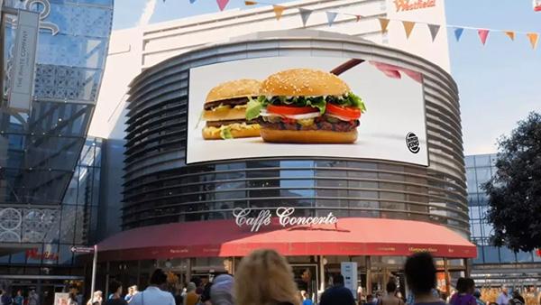 汉堡王户外广告