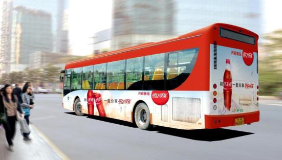 广州公交广告展示