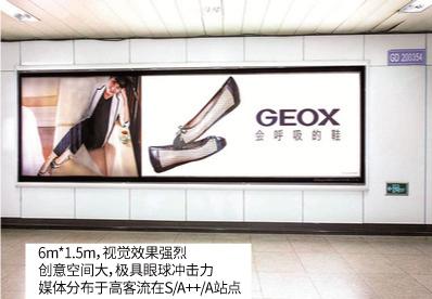 上海地铁24封灯箱广告