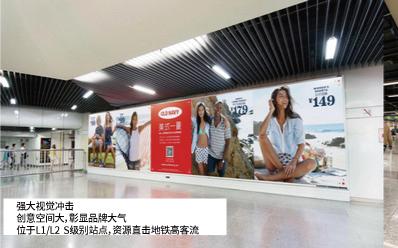 上海地铁非标超级灯箱广告