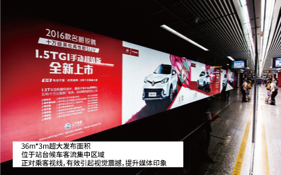上海地铁站台超级大看板广告